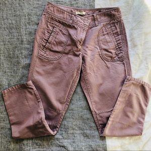 LOFT Lavender Cropped Twill Pants Size 4